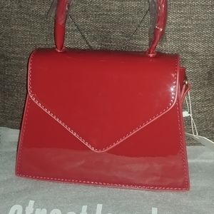 Street Level Mini Purse Patent Leather Look NWT